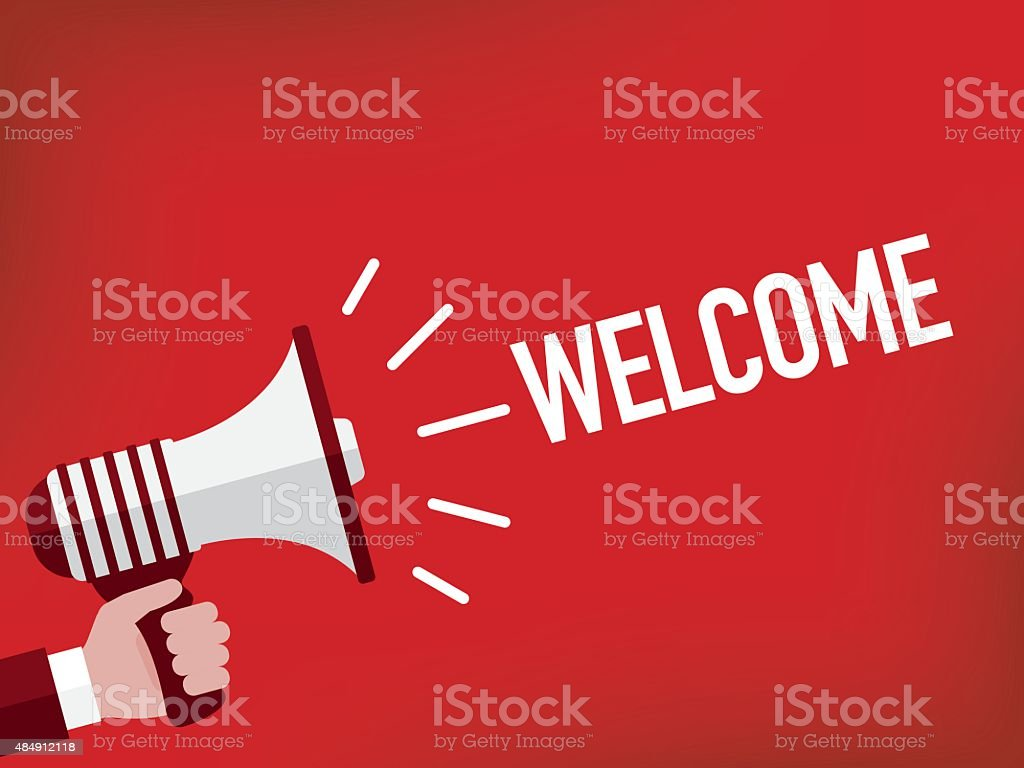 Welcome vector art illustration