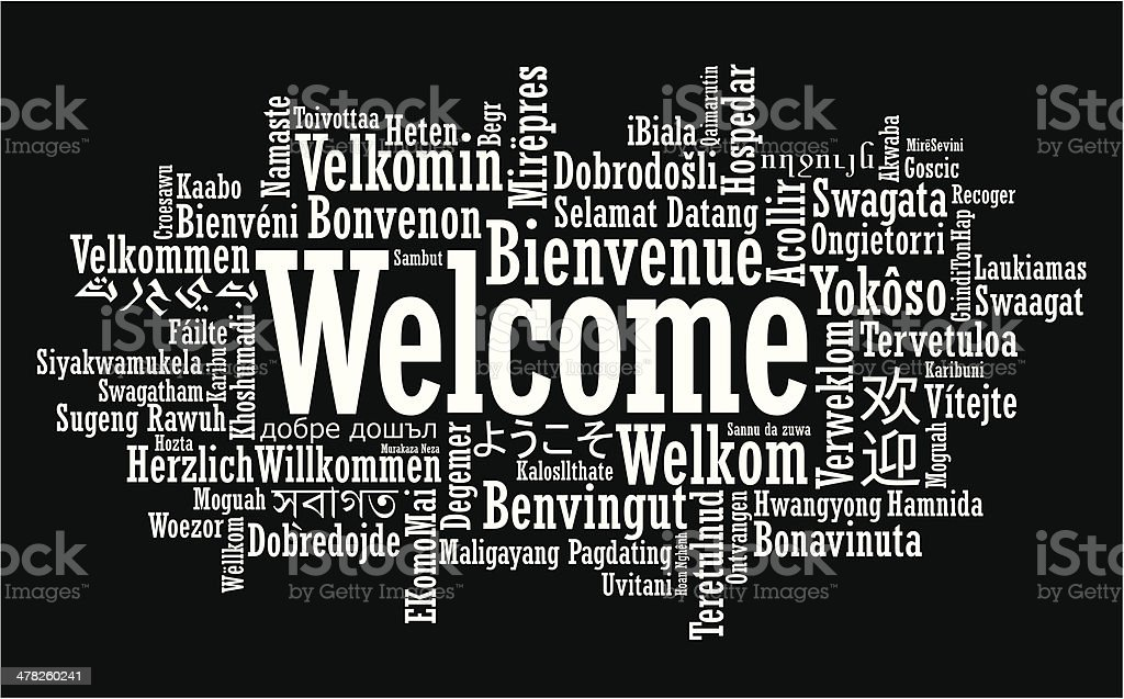 Welcome Word Cloud illustration vector art illustration