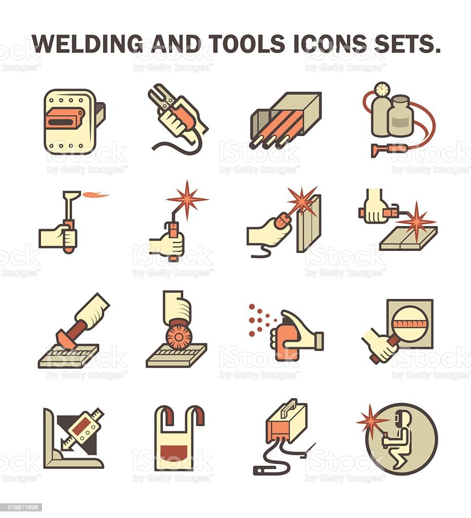 Welding work icon vector art illustration