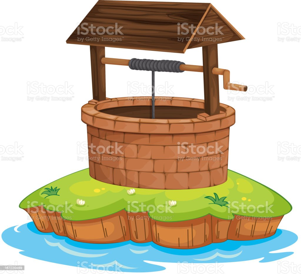 Well and water royalty-free stock vector art