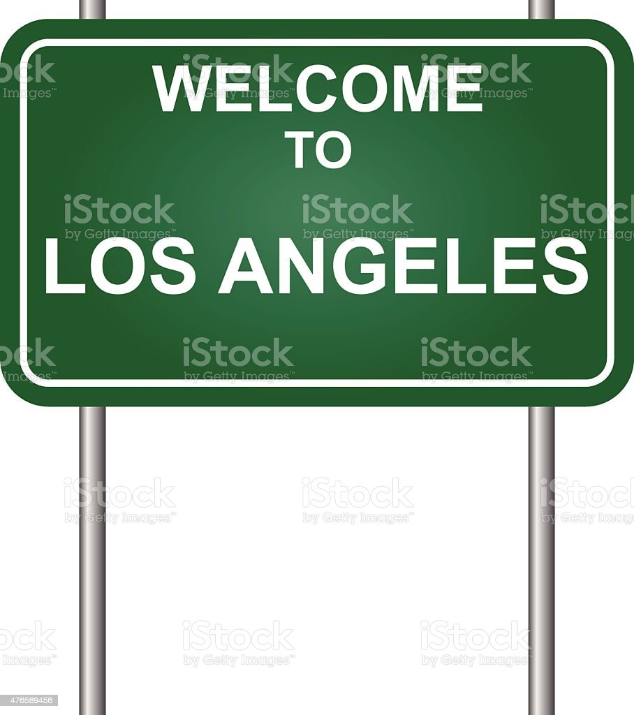 Wellcome to Los Angeles vector vector art illustration