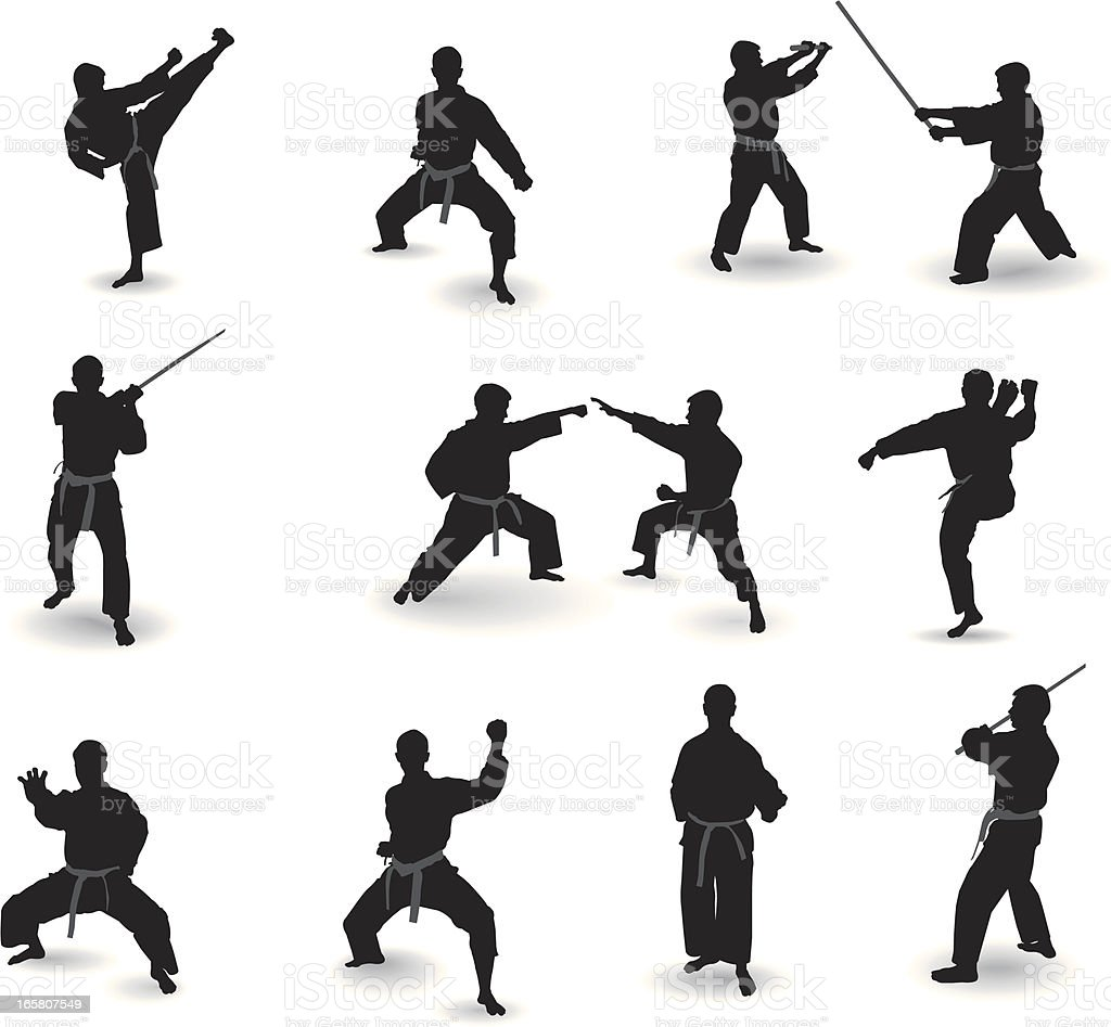 Well-known martial arts vector art illustration