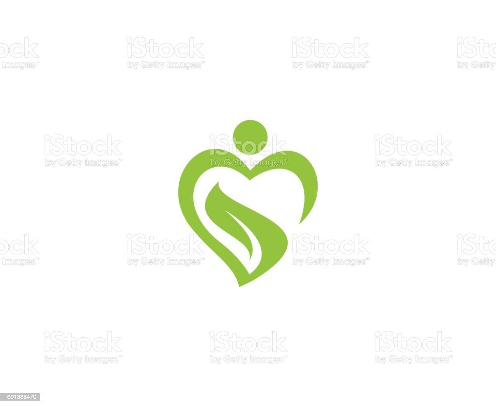 Wellness emblem vector art illustration