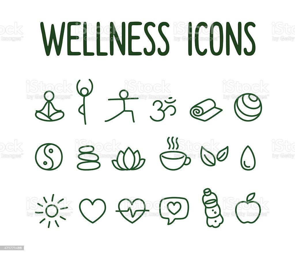 Wellness icon  Wellness Icons stock vector art 471771488   iStock