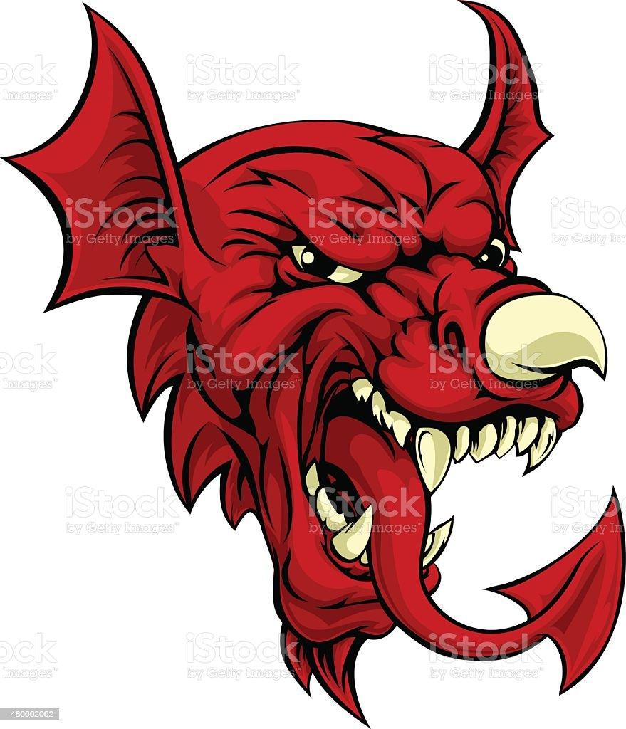 Welsh Dragon vector art illustration