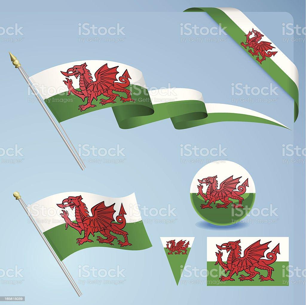 Welsh Flag royalty-free stock vector art