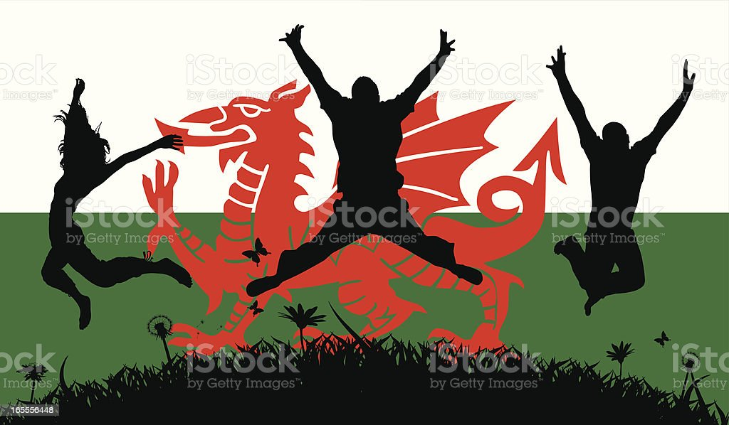 Welsh Pride royalty-free stock vector art