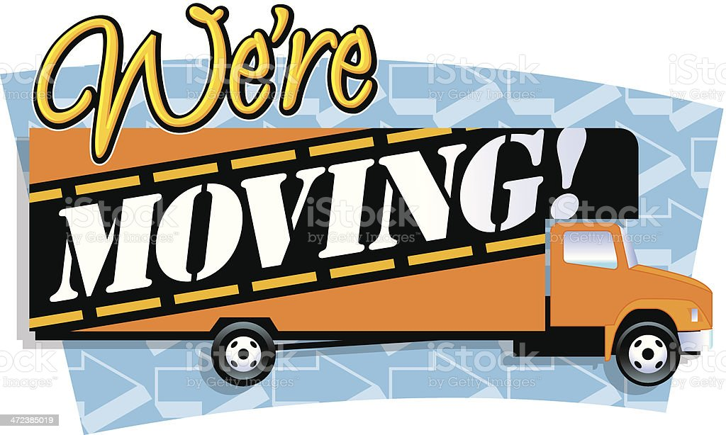 Were Moving Heading C vector art illustration
