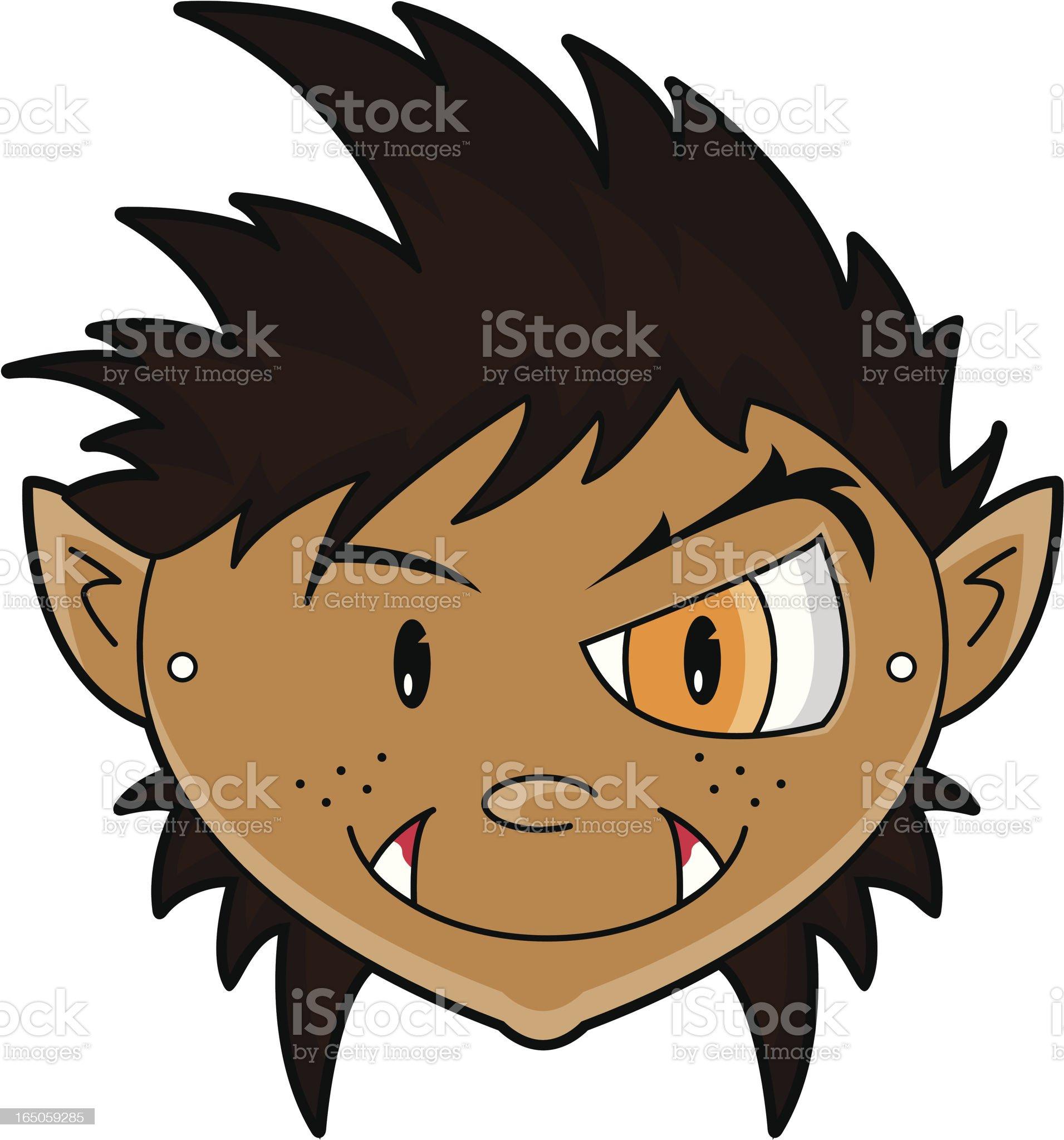 Werewolf Children's Paper Mask royalty-free stock vector art