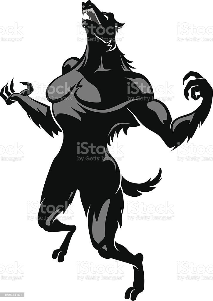 Werewolf Howling royalty-free stock vector art