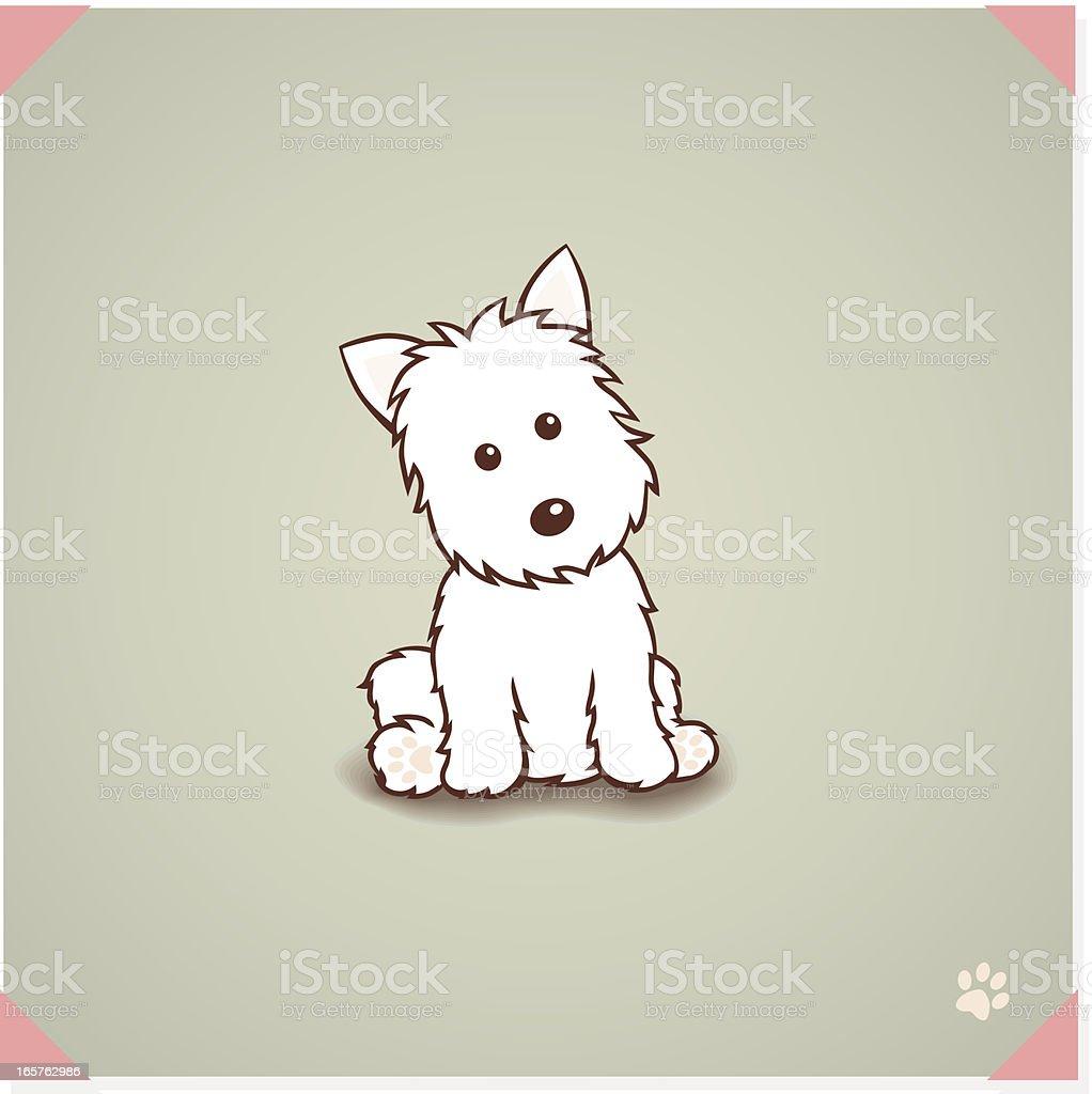West highland terrier Dog royalty-free stock vector art