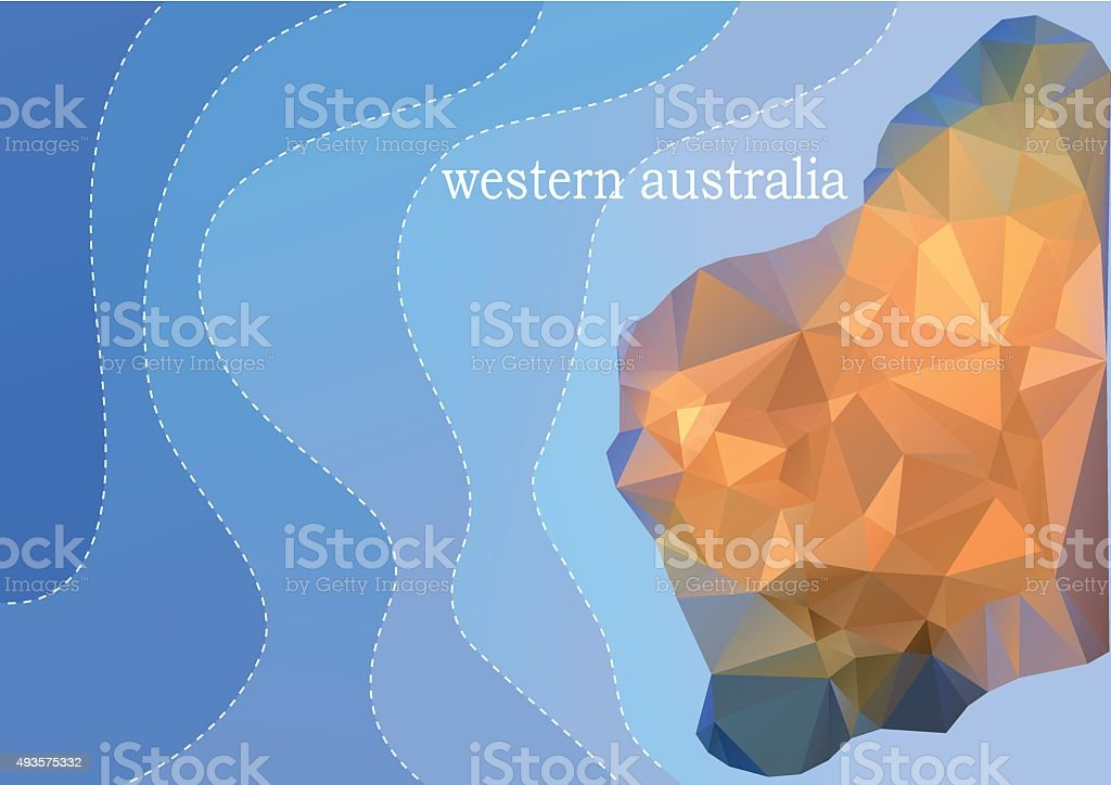 western australia vector art illustration