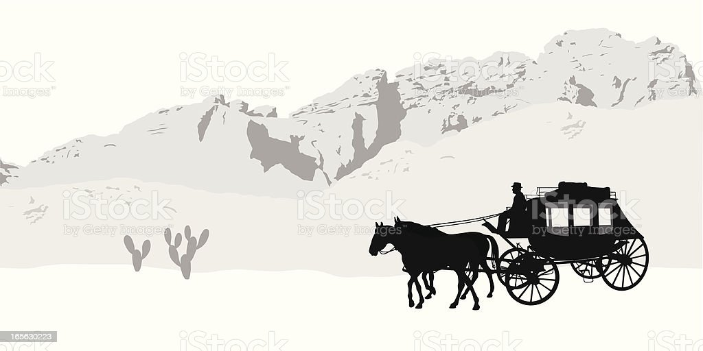 Western Life Vector Silhouette royalty-free stock vector art