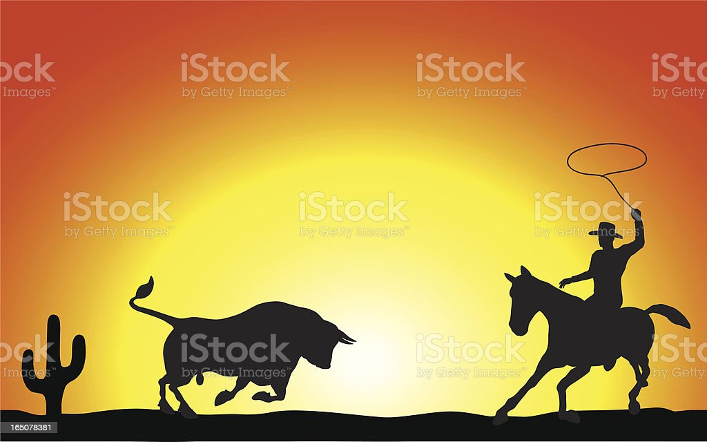 Western Sunset royalty-free stock vector art