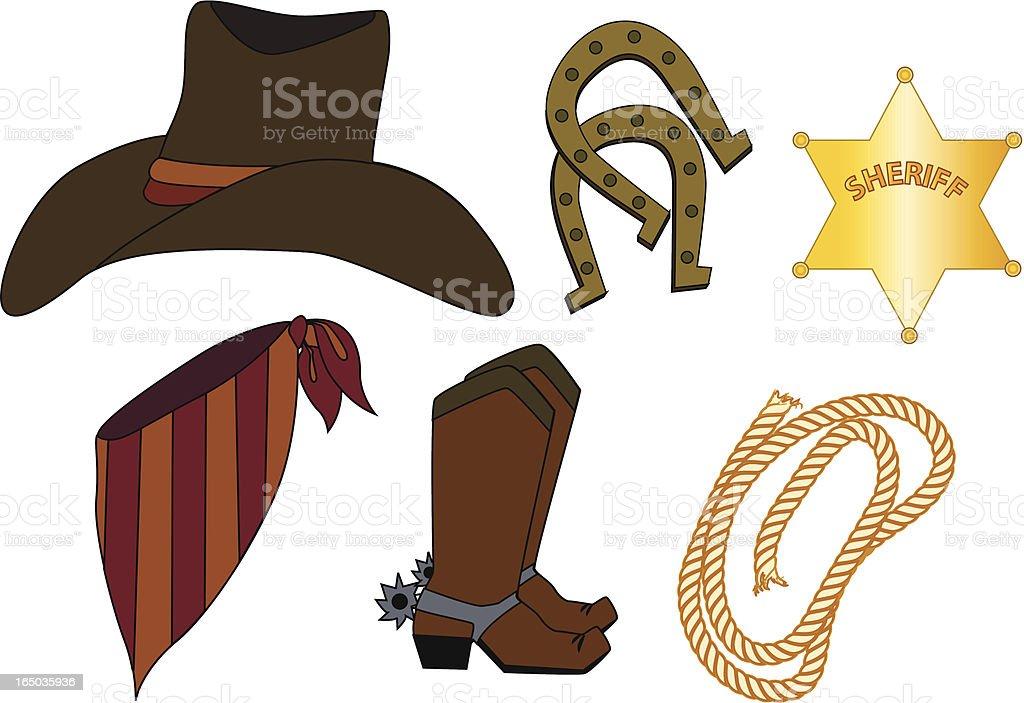 Western Wear royalty-free stock vector art