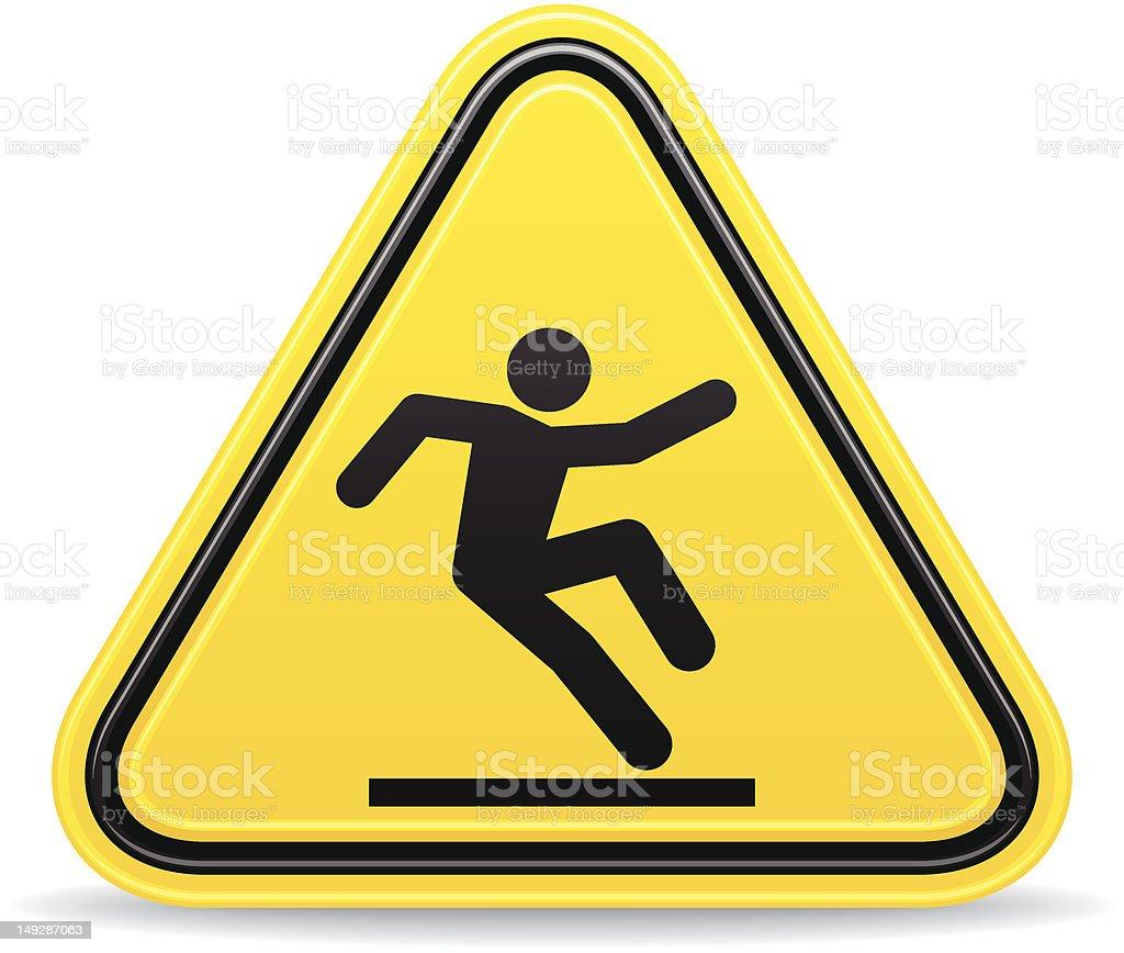 wet floor sign royalty-free stock vector art