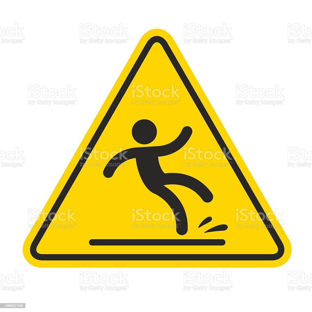 Wet Floor Sign vector art illustration