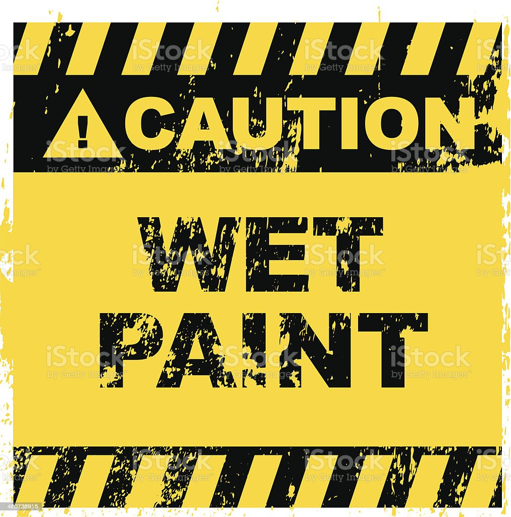 Wet Paint sign royalty-free stock vector art