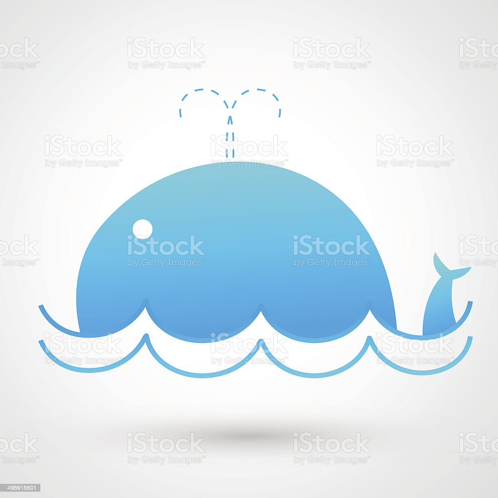 Whale icon royalty-free stock vector art