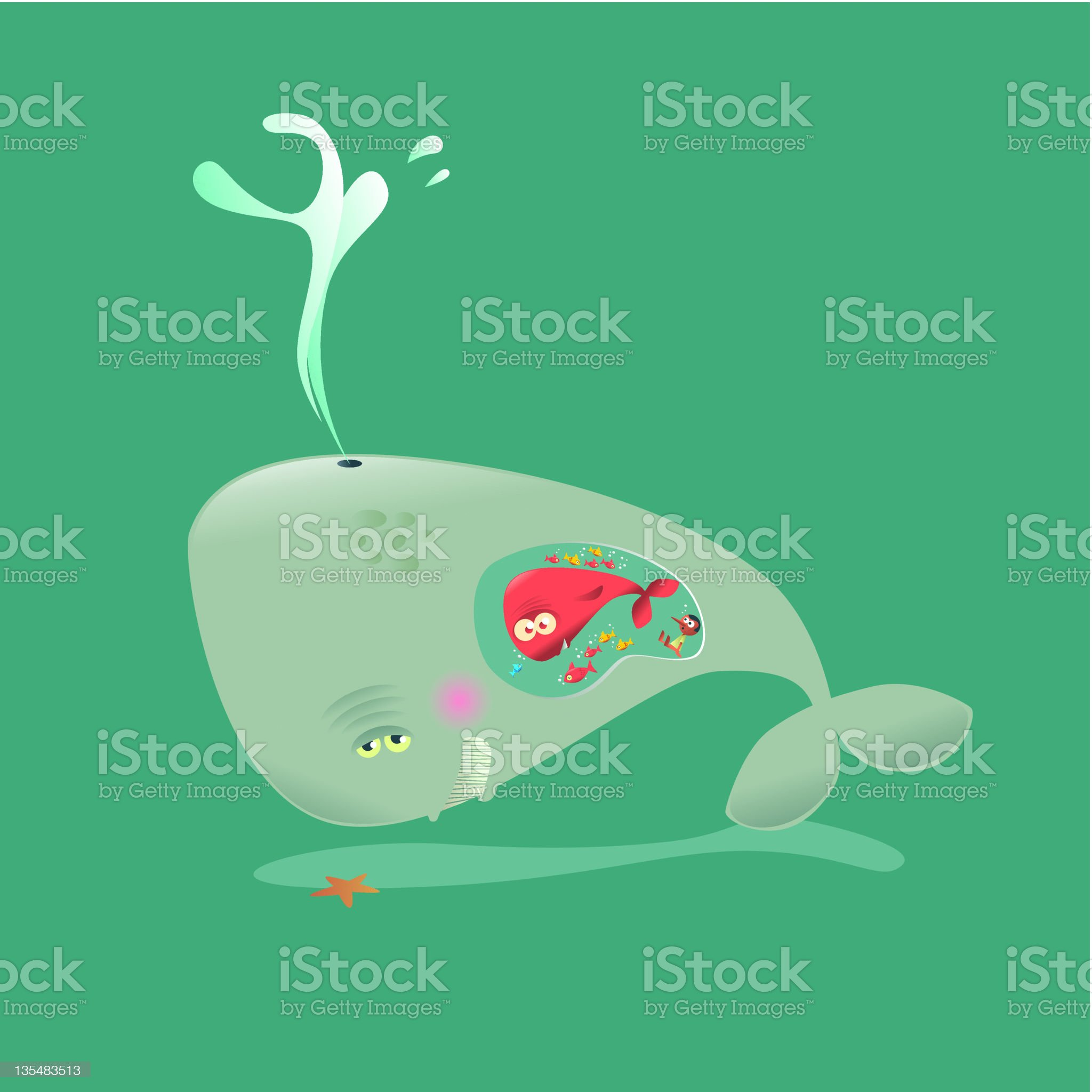 whale Mom royalty-free stock vector art