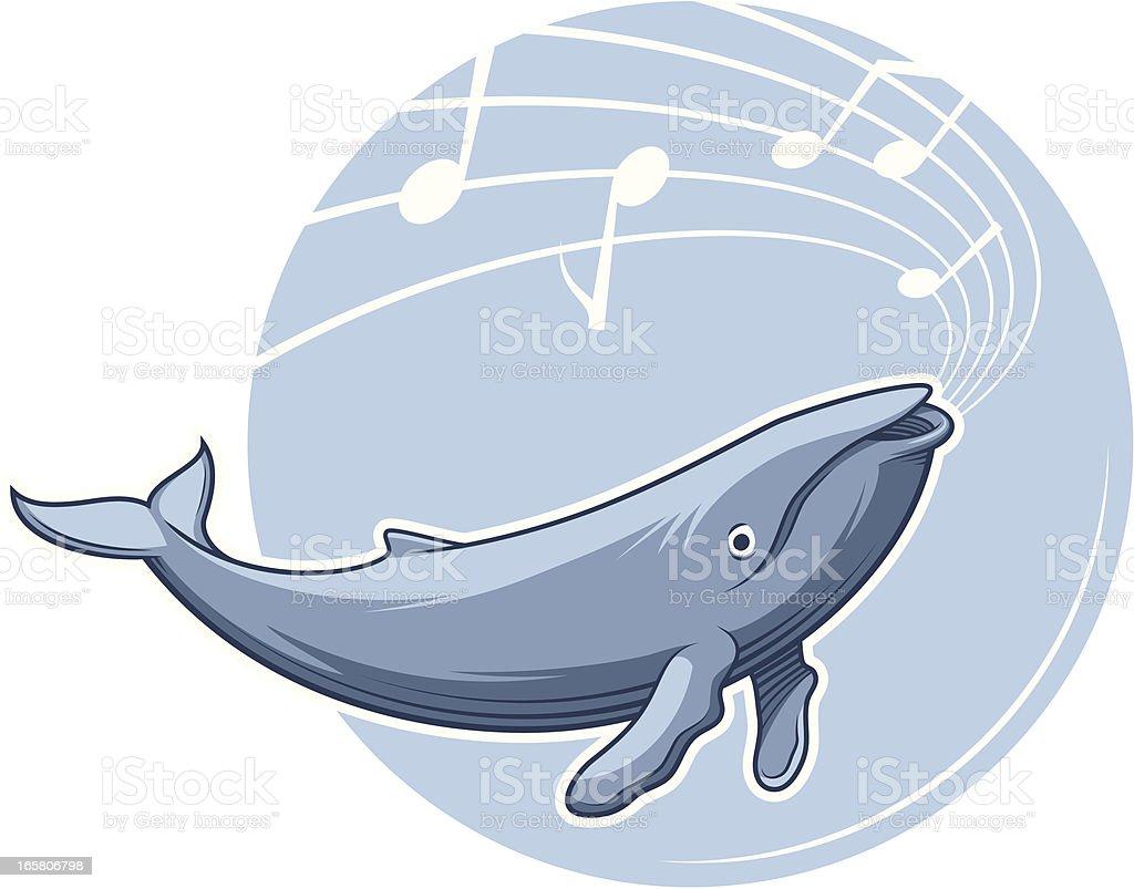 Whale Song vector art illustration