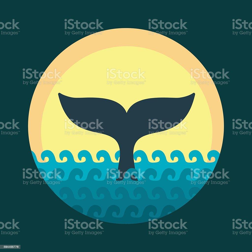 Whale tale vector art illustration