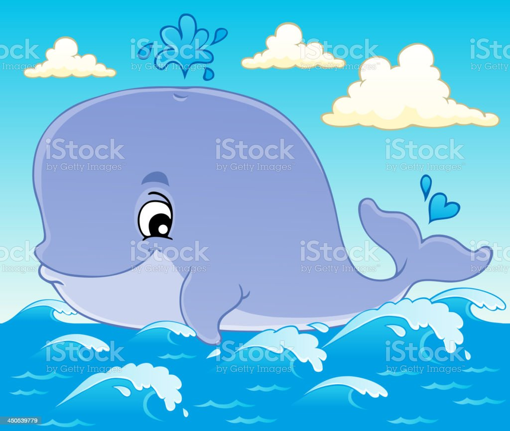 Whale theme image 1 royalty-free stock vector art