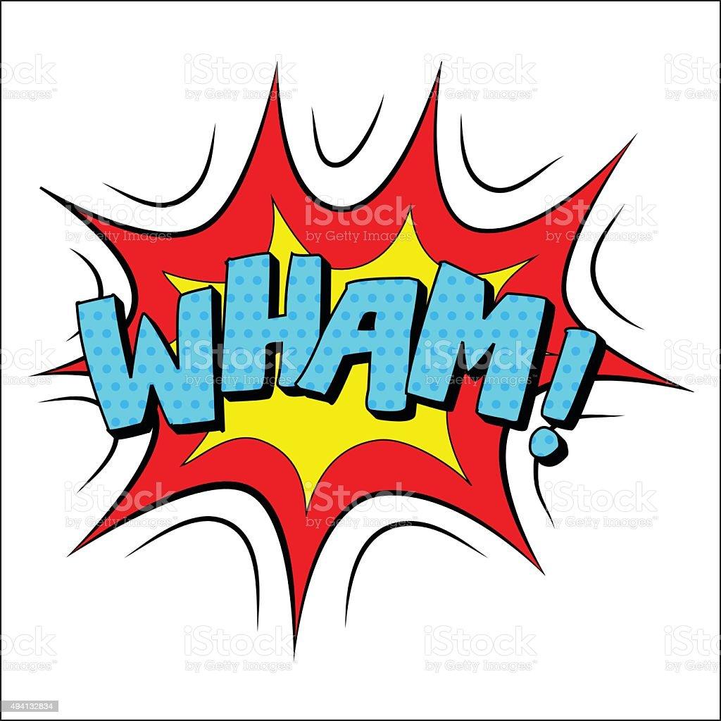Wham sound effect illustration vector art illustration