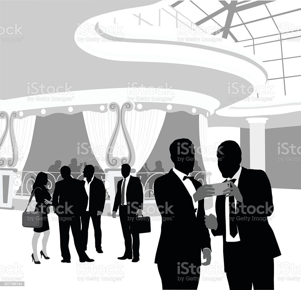 What Happens In Vegas vector art illustration