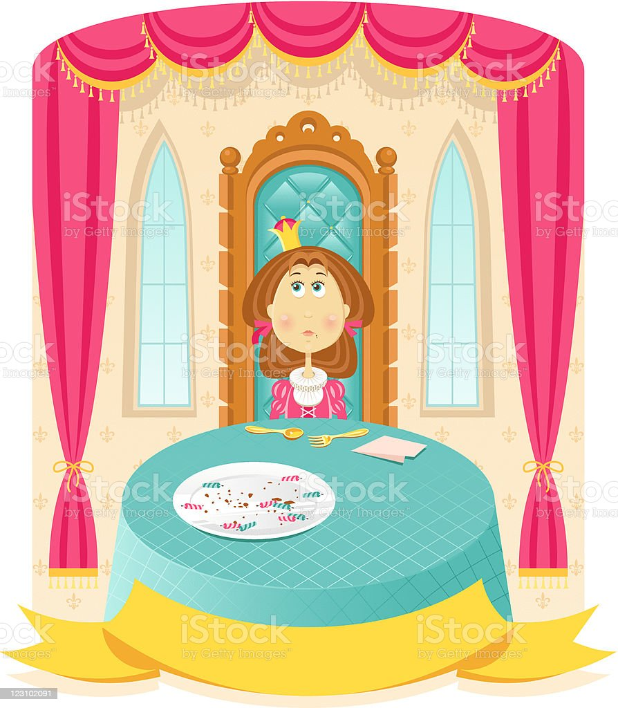 What?.. It`s my birthday after all! royalty-free stock vector art
