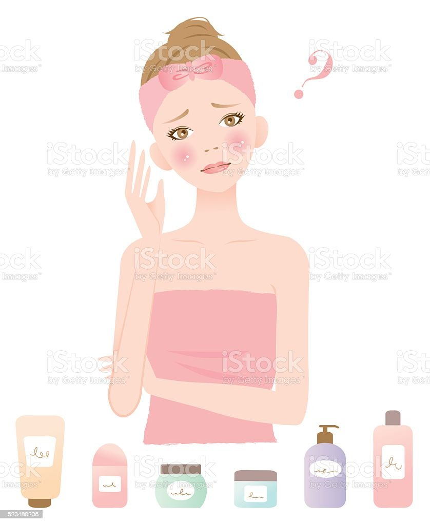 what skincare is right to me vector art illustration