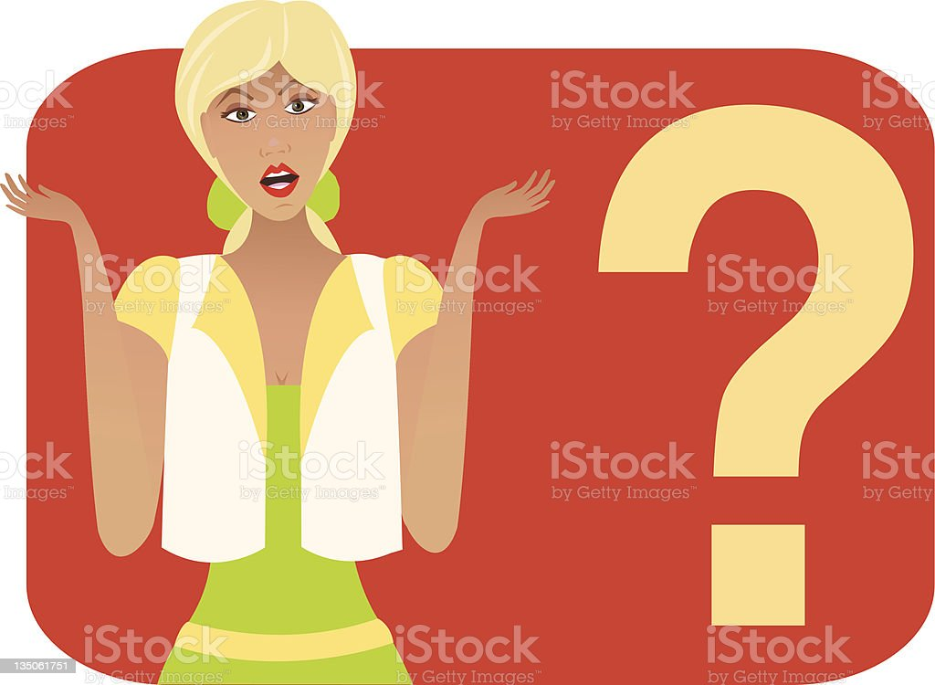 What?? royalty-free stock vector art