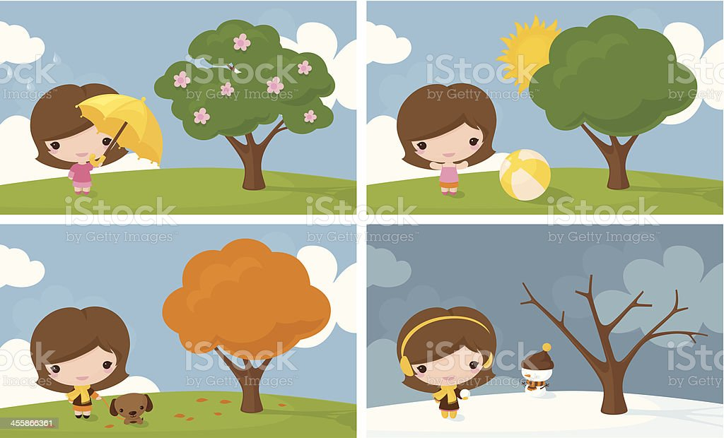Whatever the Weather vector art illustration