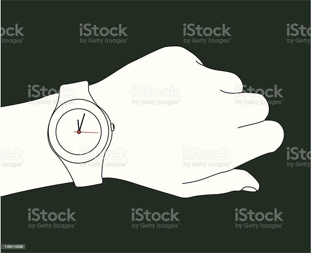 What's the time? vector art illustration