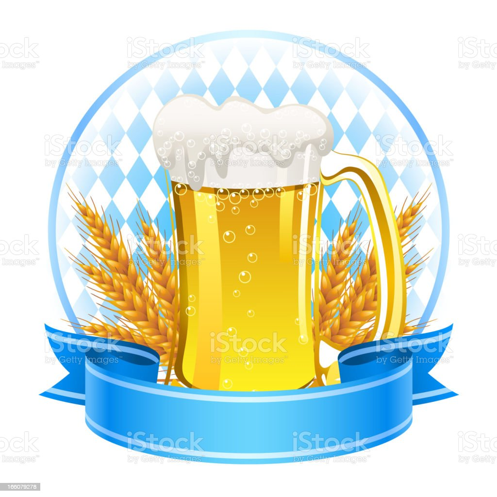 Wheat Beer Banner royalty-free stock vector art
