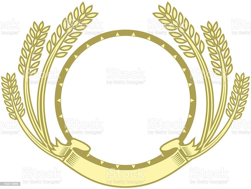 Wheat Circle royalty-free stock vector art