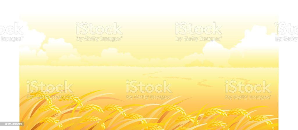 Wheat Field and landscape royalty-free stock vector art