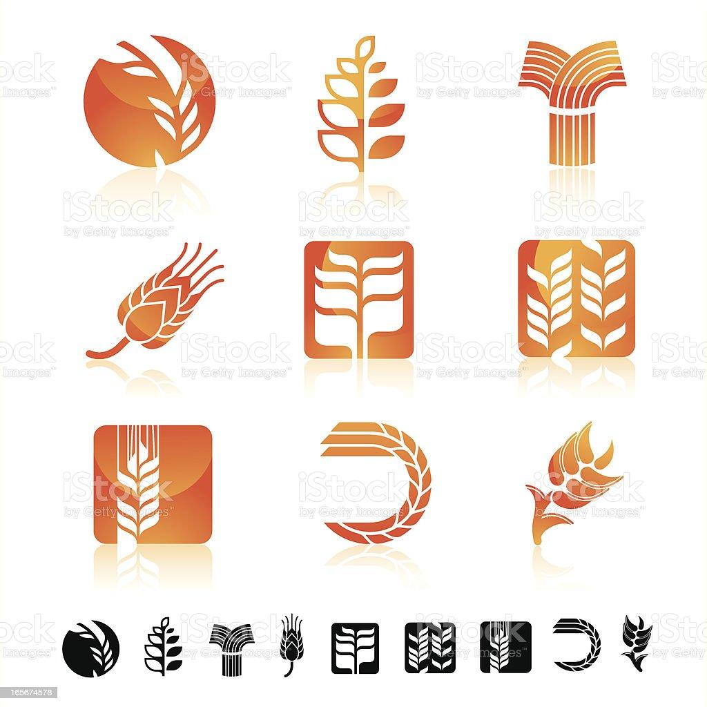 Wheat icon set royalty-free stock vector art