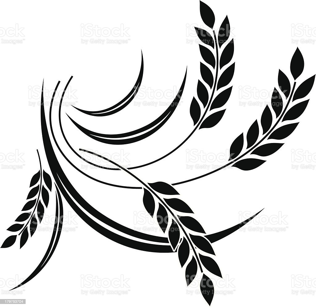 Wheat icon royalty-free stock vector art
