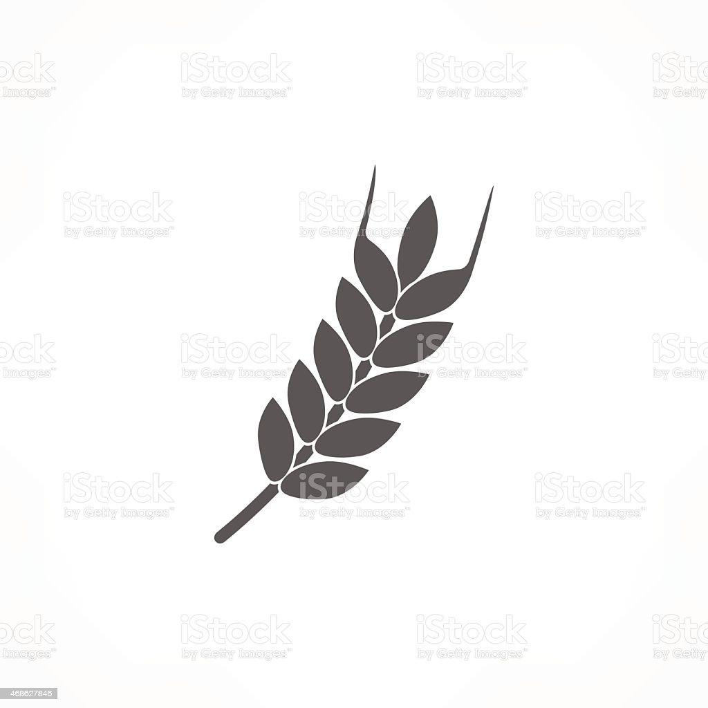 wheat icon vector art illustration