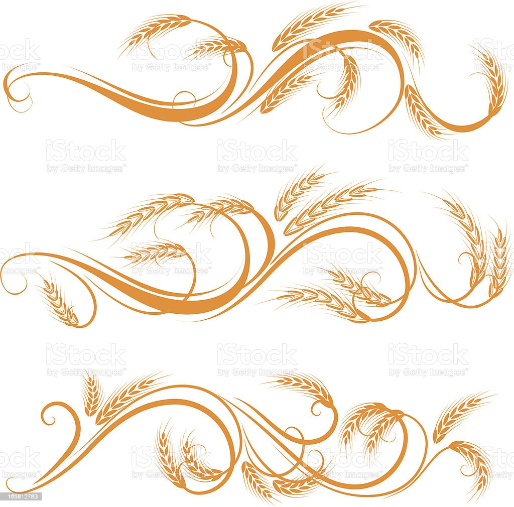 Wheat ornament royalty-free stock vector art