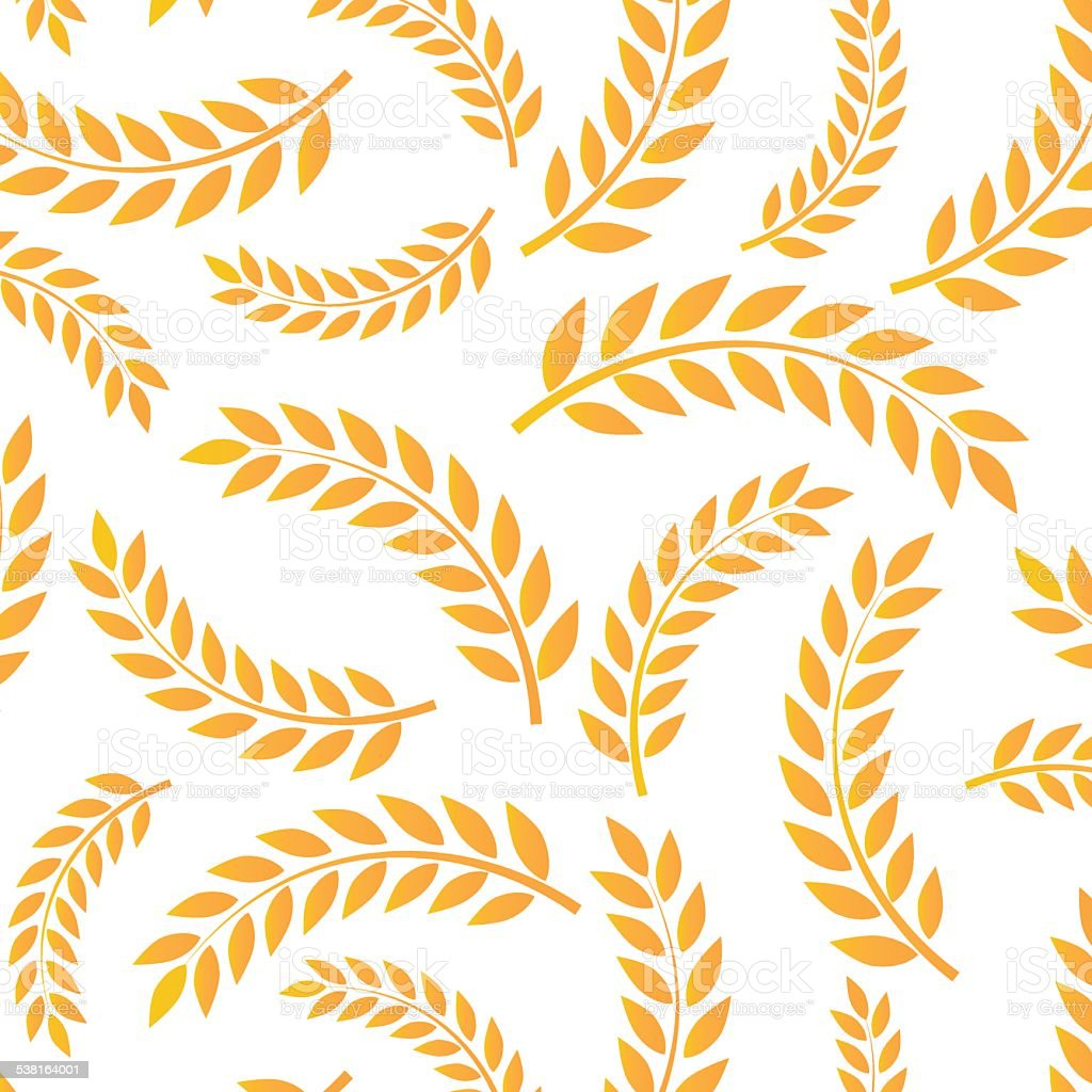 Wheat pattern. vector art illustration