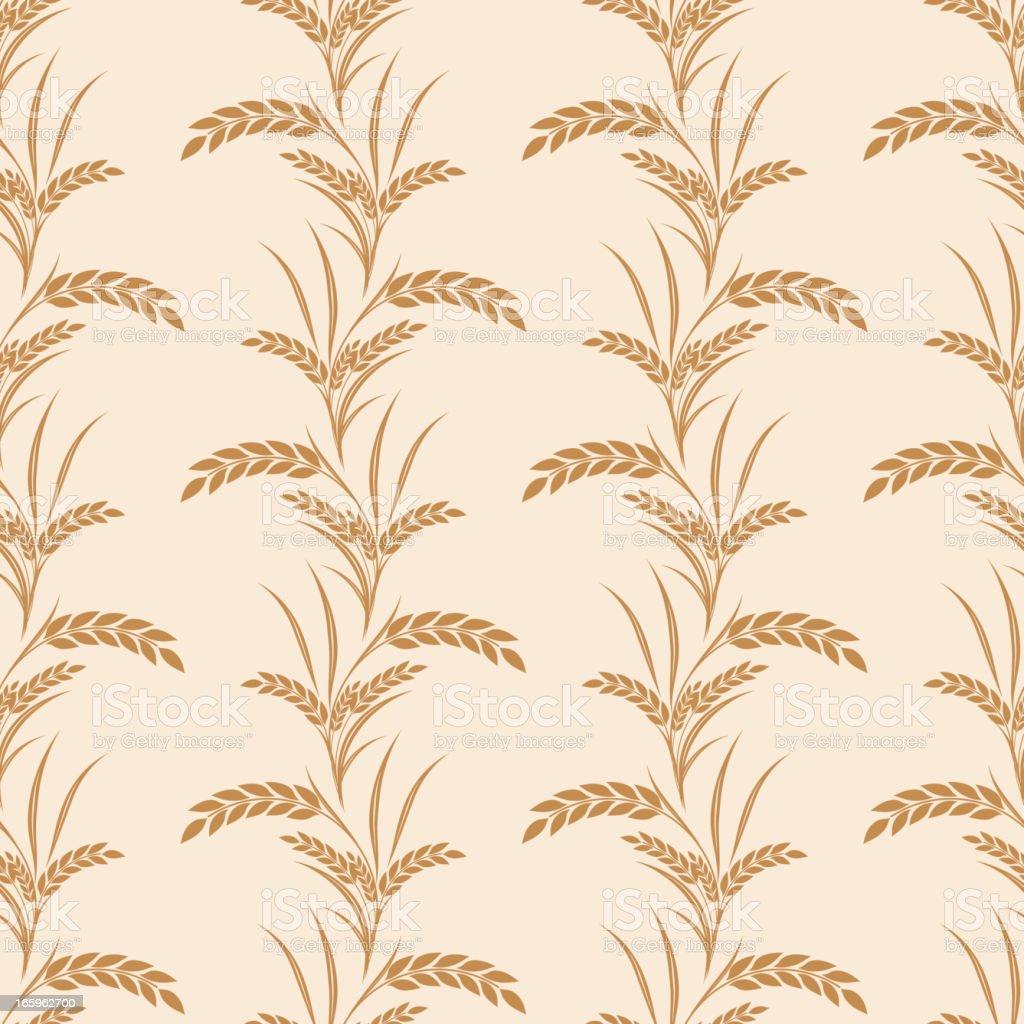 Wheat Seamless pattern Vector Illustration vector art illustration