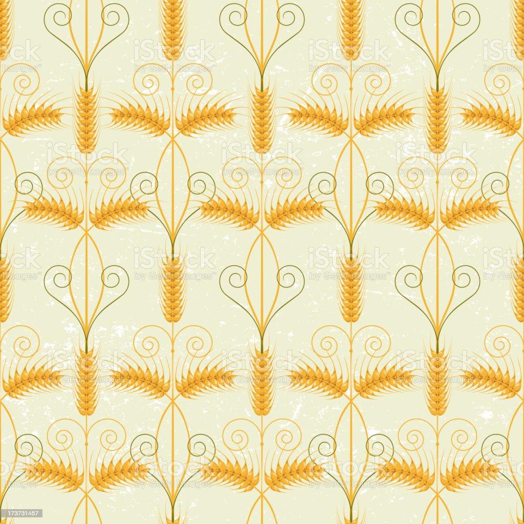 Wheat seamless royalty-free stock vector art