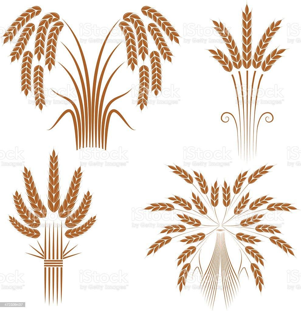 Wheat sheaves royalty-free stock vector art