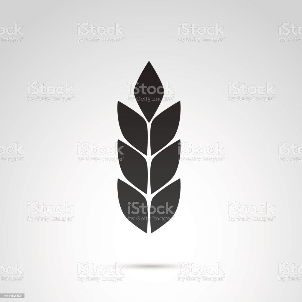 Wheat vector icon. vector art illustration