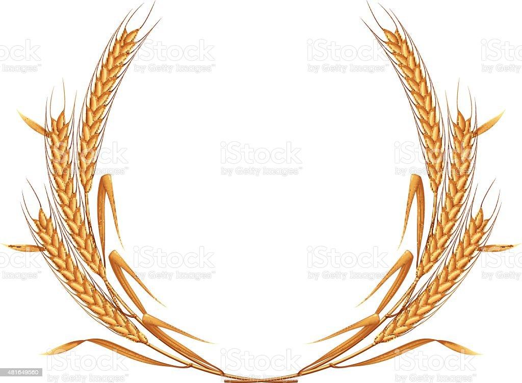 Wheat wreath. vector art illustration