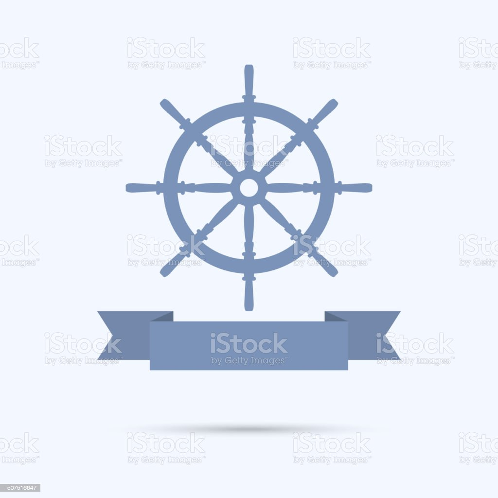 Wheel banners as a flat ribbon. vector art illustration