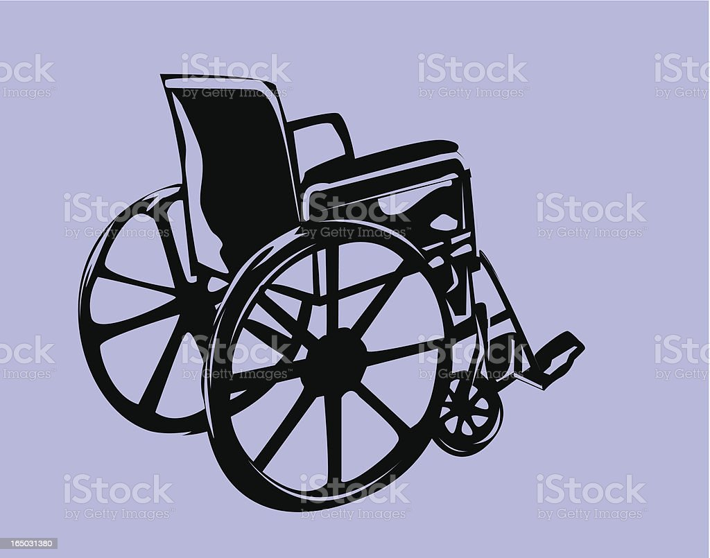 Wheel Chair (Vector) royalty-free stock vector art