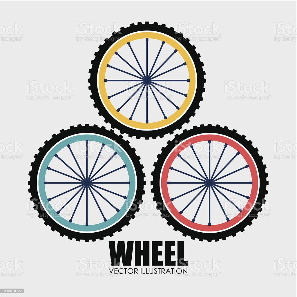 Wheel design vector art illustration